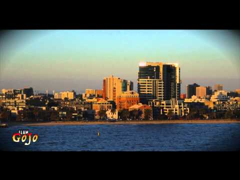 Melbourne City Skyline feat The Eureka Tower from Spirit of Tasmania