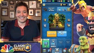 Jimmy Fallon's Best Clash Royale 2v2 Deck
