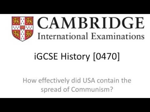 How Effectively Did USA Contain the Spread of Communism? - CIE iGCSE History [0470]