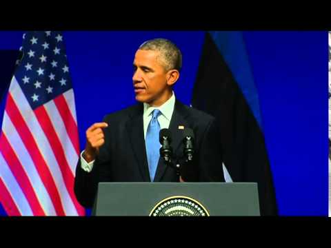 President Obama Delivers Remarks at Nordea Concert Hall, Estonia