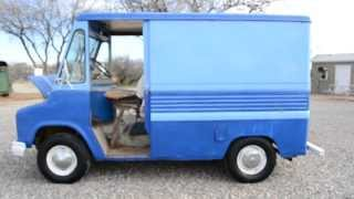 Classic Box Van, Vintage 1966 International Military Delivery Truck Ice Cream Style