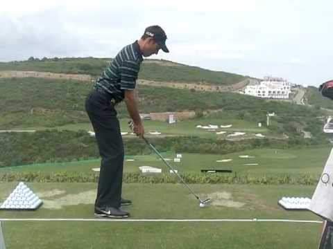 Charl Schwartzel - Golf Swing with Iron,Down the Line ...