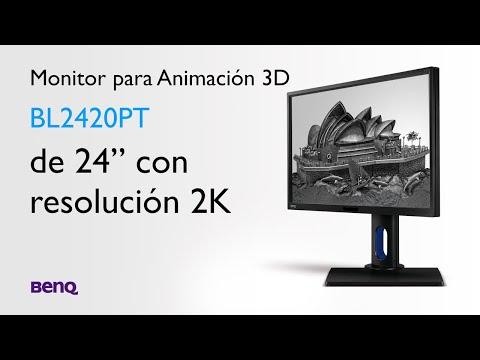 """BenQ - MONITOR PARA ANIMACIÓN 3D BL2420PT de 24"""" con resolución 2K"""