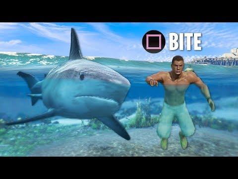 Play As JAWS/MAN EATER Shark!! GTA 5 Play As A Shark Mod Gameplay! (GTA 5 Mods)