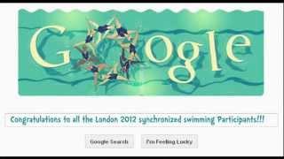 London 2012 Synchronized Swimming Google Doodle