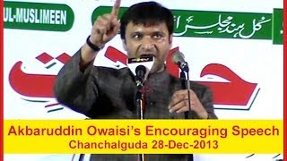 Akbaruddin Owaisi latest speech at Chanchalguda 28-12-2013 Hyderabad