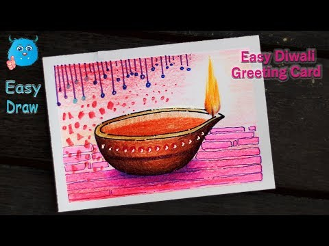 how-to-draw-diya-on-festival-diwali-drawing-for-kids-in-colored-pencil