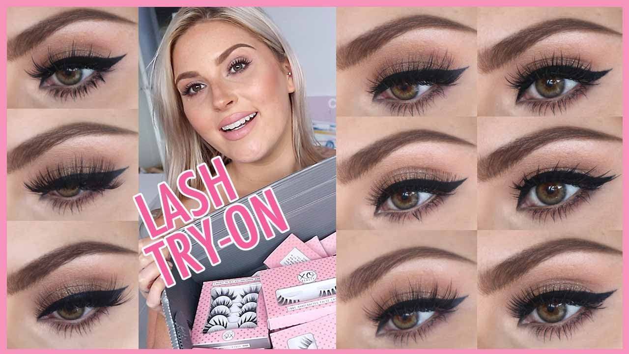 471d5dea1d3 xoBeauty Lash Try On! 💖👀 Trying On 27 Pairs Of False Eyelashes! 💜