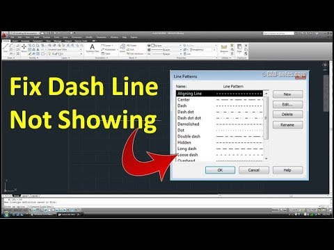 How To Fix Dash Line Not Showing In Autocad In Hindi