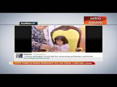 Foto comel & segak anakanda Sultan Perak tumpuan lensa