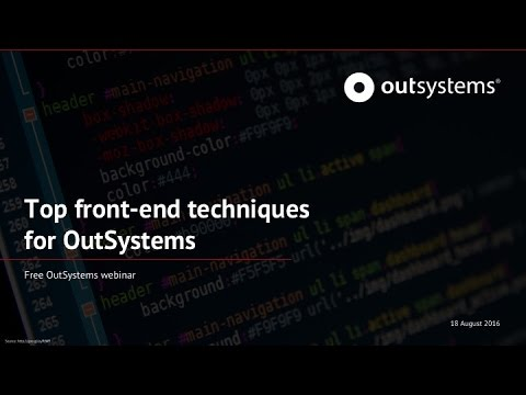 Top front-end techniques for OutSystems