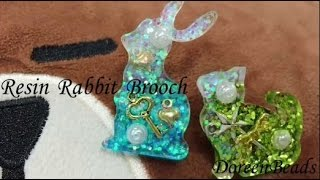 DoreenBeads Jewelry Making Tutorial - How to Make Lovely Resin Sequins Rabbit Brooch Entirely