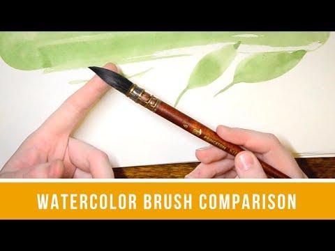Watercolor Brushes | Neptune Quill | Silver Black Velvet | Princeton Brush Comparison