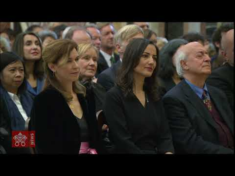 Pope Francis audience with Members of the Foreign Press Association in Italy 2019-05-18
