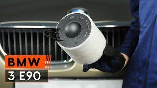 Cum se inlocuiesc filtru de aer motor pe BMW 3 E90 TUTORIAL | AUTODOC