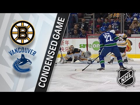 02/17/18 Condensed Game: Bruins @ Canucks