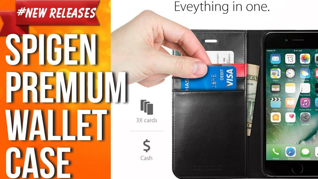 promo code 0133f 743da iPhone 7 Plus Case, Spigen Wallet S Stand Feature Black Premium Wallet Case  with STAND Flip Cover
