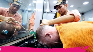 The ULTIMATE Indian HAIRCUT EXPERIENCE 5.0 in Kozhikode - Full Shave & Massage | Kerala, India
