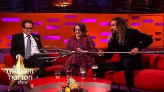 connectYoutube - Jason Momoa Shows Off His Aquaman Quindent | The Graham Norton Show