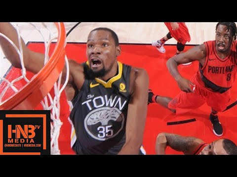 Golden State Warriors vs Portland Trail Blazers Full Game Highlights / Feb 14 / 2017-18 NBA Season
