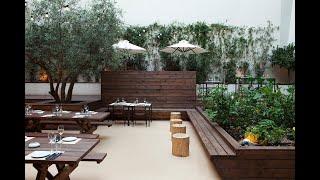 Ландшафтный дизайн летнего кафе