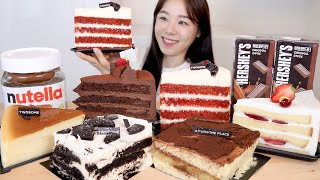 ASMR Chocolate Cake Mukbang 투썸…