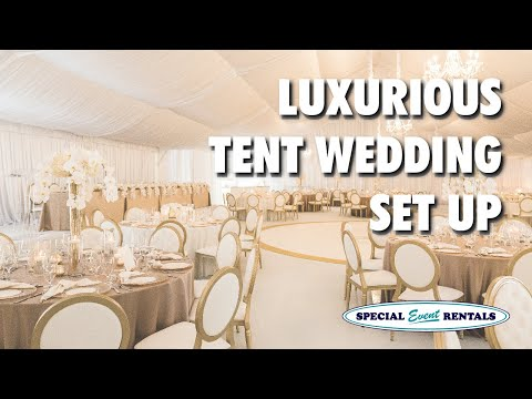 LUXURIOUS Tent Wedding - Alberta, Canada | {SETUP From Start To Finish}