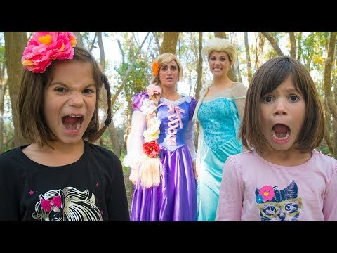 Thumbnail: FROZEN ELSA and Rapunzel!! With Real Life Twins & BIG BAD WOLF | Magic Play Time