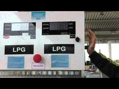 Заправка газом авто в Германии
