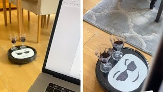 Roomba Brings Woman A Glass Of Wine