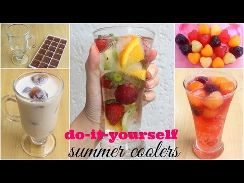 DIY Summer Coolers - Coffee and Fruit Ice Cubes! ♥