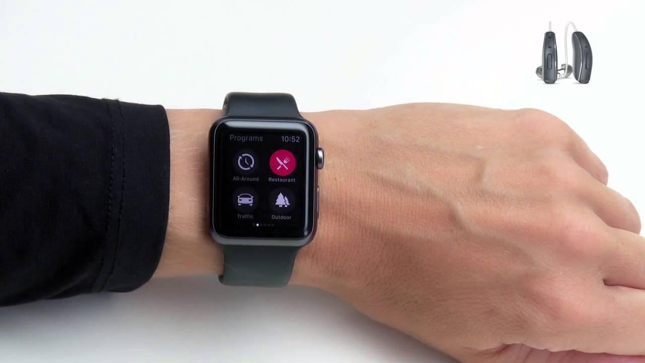 Change hearing aids programs on Apple Watch via the ReSound Smart app