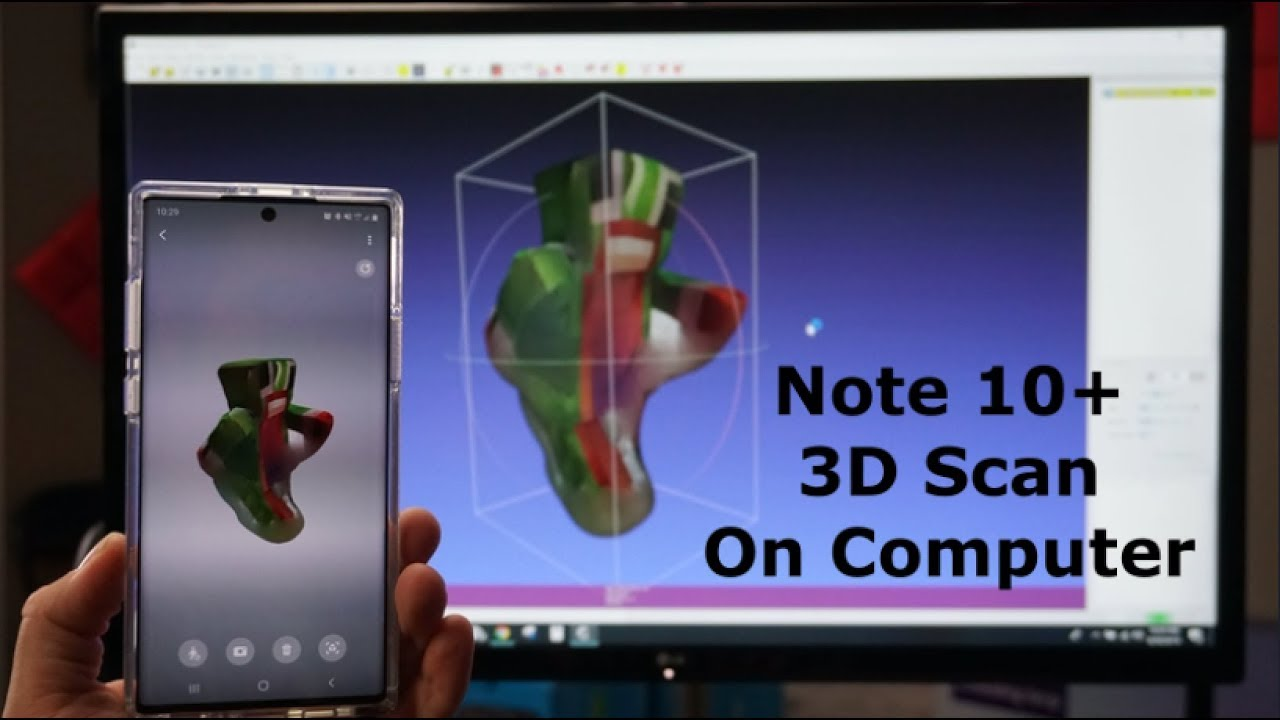 Sending Your Note 10+ 3D Scans To A Computer - YouTube