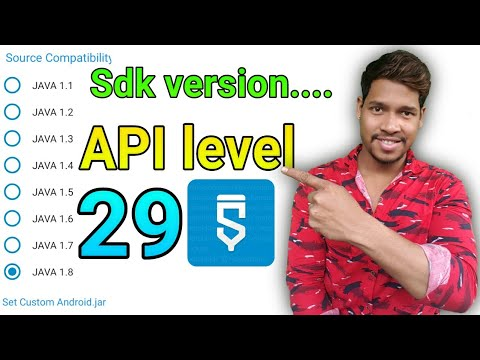 29 API Level /SDK Version How To Increase  In Sketchware Project/Aauraparti