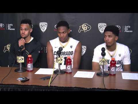 Colorado Basketball players postgame media address 11-11-16