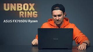 AMD vs INTEL!   ASUS FX705DU Ryzen   Unbox Ring apžvalga