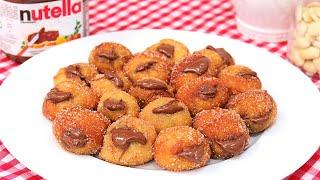 Buñuelos de Viento rellenos de Nutella