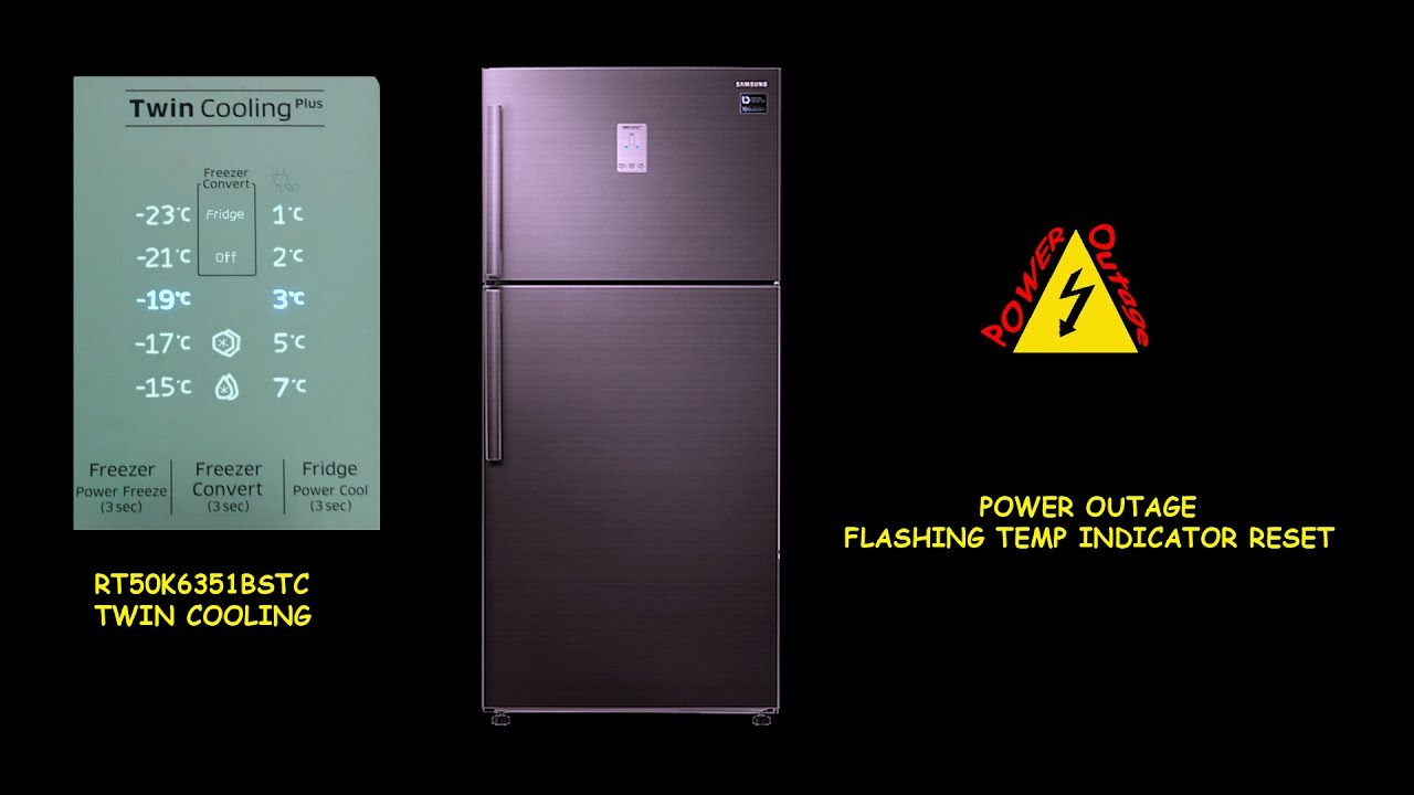 Flashing Temp Indicator Resetting Samsung Inverter Twin Cooling Plus Refrigerator Rt50k6351bs