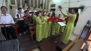 Lưu Danh Thiên Thu | Ca đoàn Đồng Tâm VCTD Sài Gòn | hát tại nhà thờ Đức Bà Hoà Bình