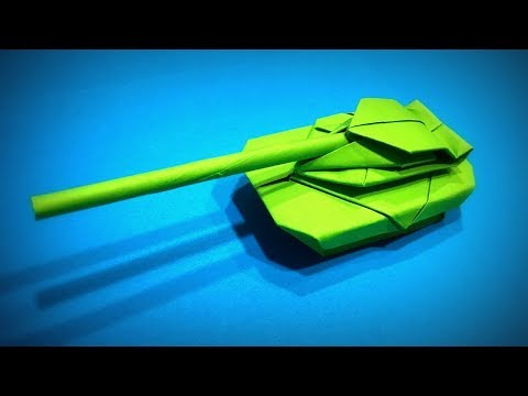 How to Make a Paper Tank (Fighting machine) DIY - Easy Origami ART