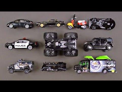 Learning Black Street Vehicles for Kids Learning Colors Cars Trucks Hot Wheels Organic Lea