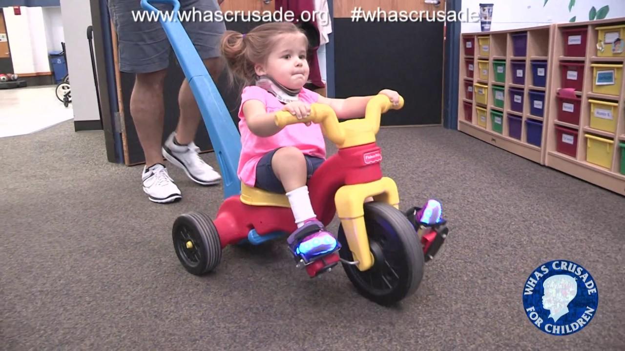 Toddler With Spina Bifida Displays Fighting Spirit At Wendell