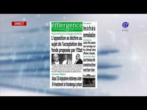 REVUE DE PRESSE (Des candidats refusent l'argent de la campagne) du 20/09/2018 - EQUINOXE TV