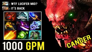 CRAZY FORGOTTEN HERO MID IS BACK! New 7.23 Scepter Doom Rework 1000 GPM Gold Digger Carry Dota 2