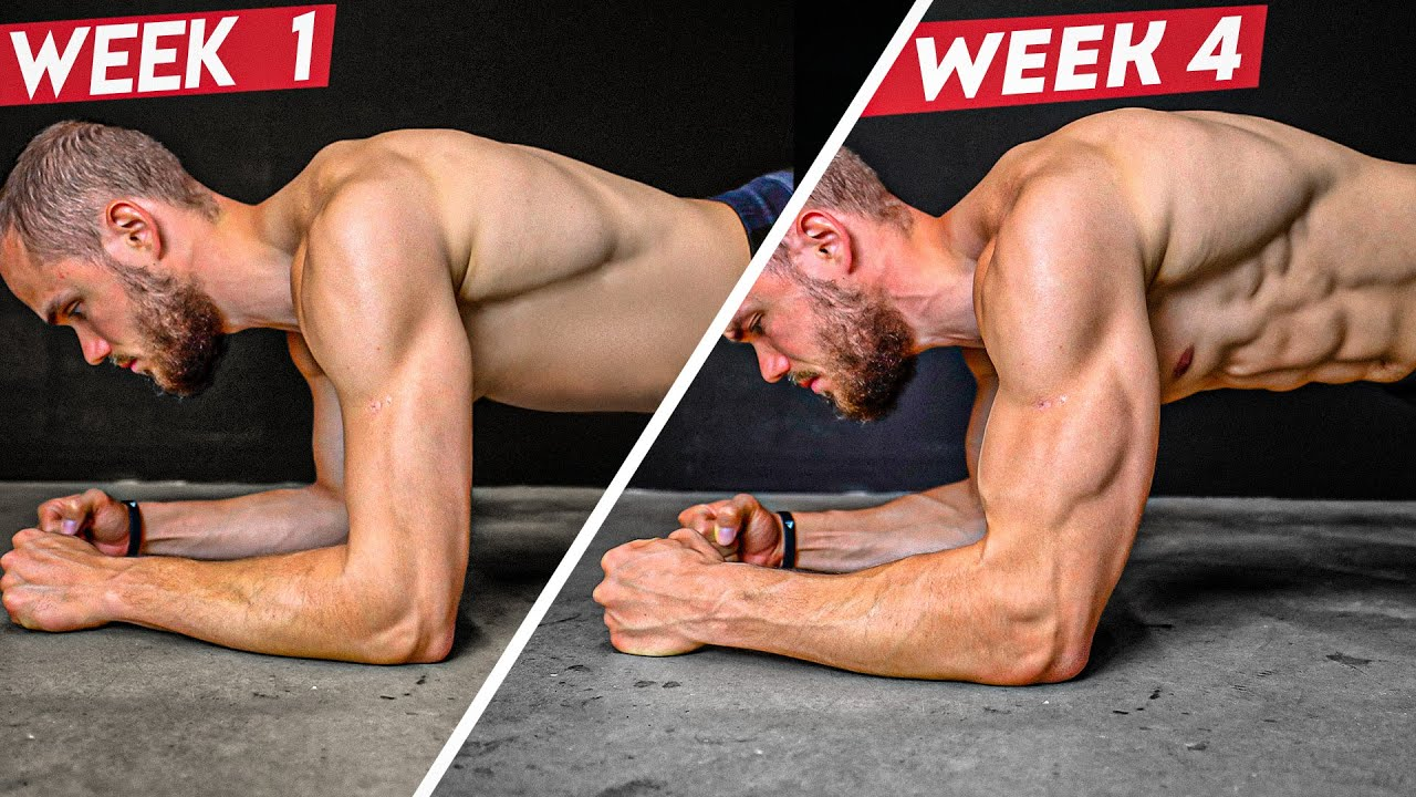 4 MIN Plank Challenge to GET 6 Pack Abs (4 WEEKS RESULTS)