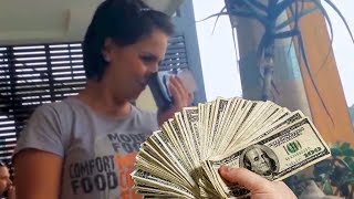 tipping restaurant waitress $10,000