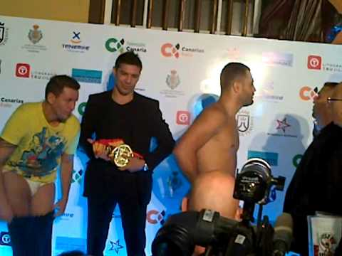 Pesaje Campeonato de España Peso Crucero (-91 Kg) Ibrahim Lopez vs Luis Rodriguez