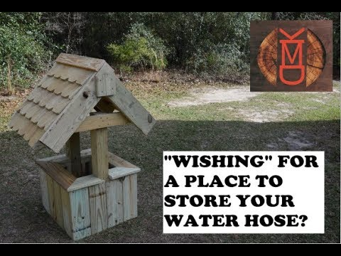 HOW TO MAKE A WATER HOSE WISHING WELL ll SCRAP WOOD PROJECTS EPISODE #1