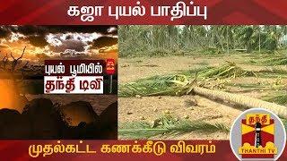 கஜா புயல் பாதிப்பு- முதல்கட்ட கணக்கீடு விவரம்   Gaja Cyclone