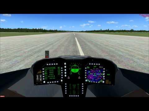 FSX aterrizaje manual con un f-37 talon.